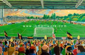 Hand Painted original of gallagher stadium